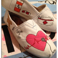 Nursing Custom Toms Shoes