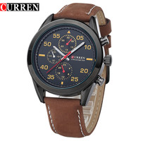 Men Watch Business Quartz Watches Top Luxury Military Wristwatches Leather Sports
