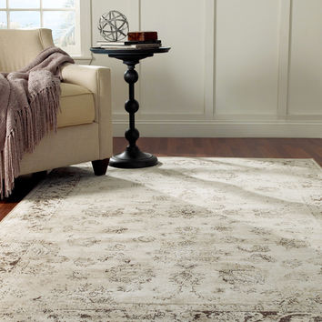 nuLOOM Oriental Vintage Viscose Persian Natural Area Rug | Overstock.com Shopping - The Best Deals on 7x9 - 10x14 Rugs