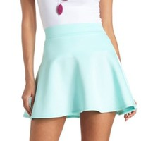 High-Waisted Skater Skirt by Charlotte Russe - Mint