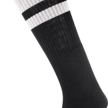 Socco Knee High Black/White Socks (6-9) 1 Pair