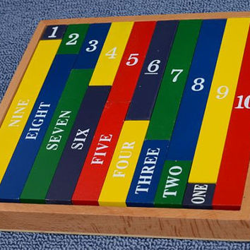 Montessori Number Rod Set