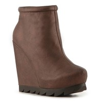 Heart Soul Cocoa Wedge Bootie