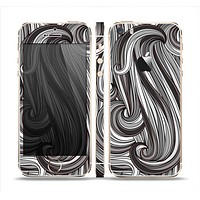 The Black & Gray Monochrome Pattern Skin Set for the Apple iPhone 5s