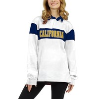 Women's chicka-d White Cal Bears Long Sleeve Rubgy T-Shirt