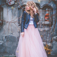 Dreamlike Layered Tulle Maxi Skirt