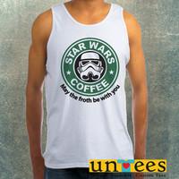 Star Wars Coffee Logo Clothing Tank Top For Mens