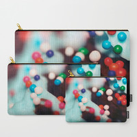 Carry All Pouch - Cupcake Sprinkles Photograph - Make-up Bag- Pouch- Toiletry Bag - Change Purse - Organizing Bag - Made to Order