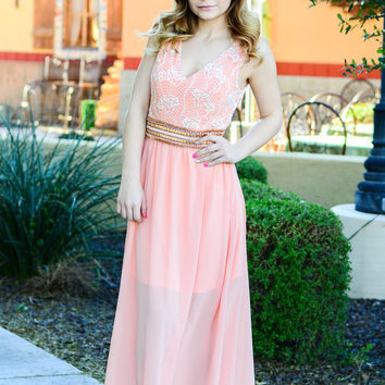 LEAVE YOU BREATHLESS MAXI DRESS IN BLUSH