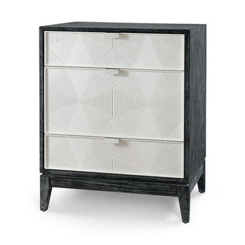 Bruno 3 Drawer Side Table