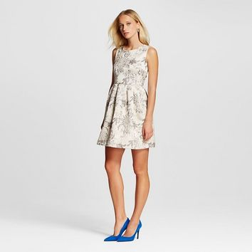 Women's Jacquard Fit and Flare Dress - Allen B