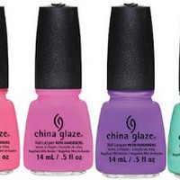 China Glaze Summer 2013 Sunsational CREME 6 BOTTLE SET