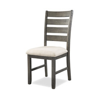 Lynd Dining Chair Set of 2 CREAM/DARK ASH