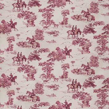 Vervain Fabric 5845205 Elway Hall Toile Bd Mahogany On Celadon