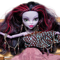 """Sixth scale doll fantasy jewelry outfit monster fashion """"Heather Fairy"""" earrings bangles chain high ever after dollhouse miniature accessory"""