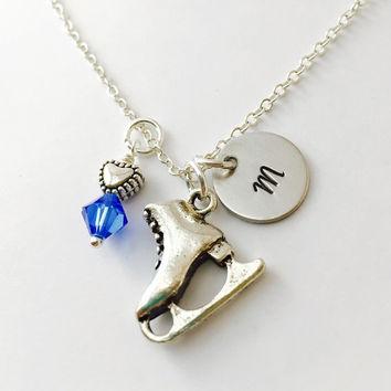 Ice Skate Charm Necklace, Skater Charm Necklace, Ice Skater  Gift, Skate Necklace , Ice Skating Teacher Necklace