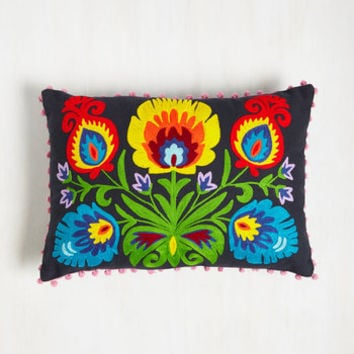 Folk Art Grow and Steady Pillow by Karma Living from ModCloth