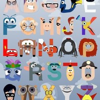 P is for Pixar (Pixar Alphabet) Art Print by Mike Boon | Society6