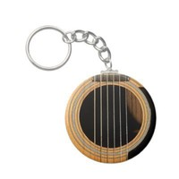 Guitar Key Chain from Zazzle.com