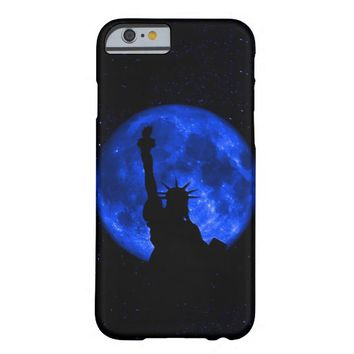 Gorgeus Statue Of Liberty Blue Moon Barely There iPhone 6 Case