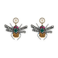 Gucci Crystal embroidered bee earrings