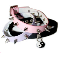 spiked assorted chokers