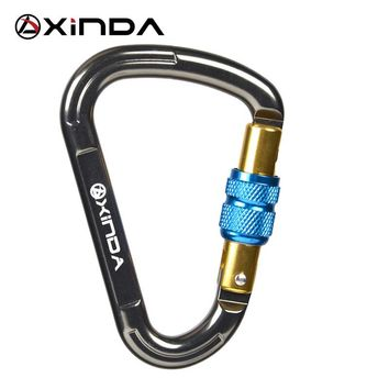Original XINDA Outdoor Rock Climbing 25KN Safety Connector Lock Pear-Shape Screw Gates Buckle Lock Carabiner Survive kits