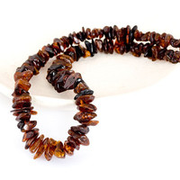 Dark amber necklace