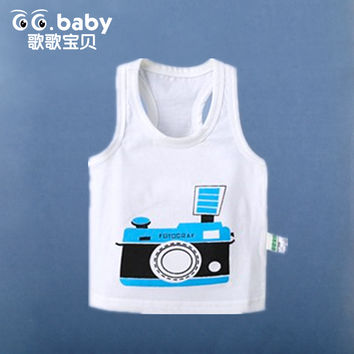 Cheap 2016 Summer Animal Baby Vest Cartoon Baby Boys Girls Clothing Casual Cotton T-shirt Top Tee Baby Vest Infant Sweatshirt