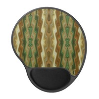 Abstract Vertical Striped Pattern Gel Mouse Pad