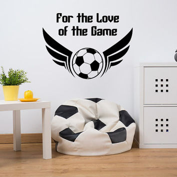 Soccer Wall Decal, Sports Wall Decal, Soccer Ball Wall Decal, Sports Dorm Decor, Soccer Dorm Decor, Soccer Nursery Decal