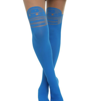 Star Wars R2-D2 Faux Thigh High Tights