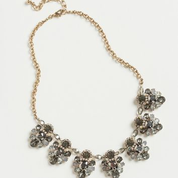 Annelise Grey Crystal Statement Necklace