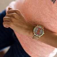 Aztec Face Watch CLEARANCE - Modern Vintage Boutique