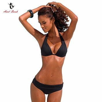 Ariel Sarah Brand Super Push Up Bikini 2017 Bandage Bikinis Set Swimsuit Swimwear Women Sexy Biquini Bathing Suit for Women Q106