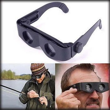 Portable Glasses Style Magnifier Telescope Binoculars For Fishing Hiking SportHU