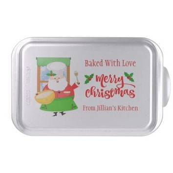 Custom Christmas Santa Baking Cake Pan
