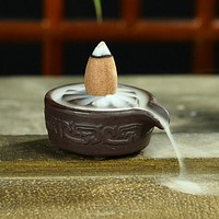Mini Ceramic Censer Backflow Incense Cones Incense Stick Burner