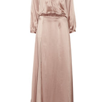 Mason by Michelle Mason - Silk wrap-effect maxi dress