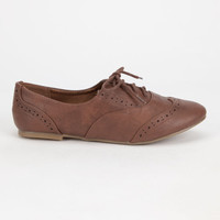 City Classified Zoya Womens Wingtip Oxford Shoes Tan  In Sizes