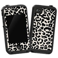 "Black and White Leopard ""Protective Decal Skin\"" for LifeProof 4/4S Case: Cell Phones & Accessories"