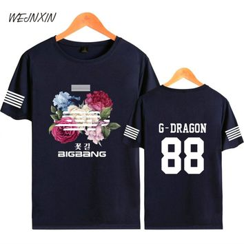 WEJNXIN Cool Kpop BIGBANG Graphic T Shirt For Men Women T-shirt Hip Hop Short Sleeve Summer Tshirt G-DRAGON Club Wear Clothing