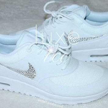 Nike Air Max Thea - White with Swarovski Crystals