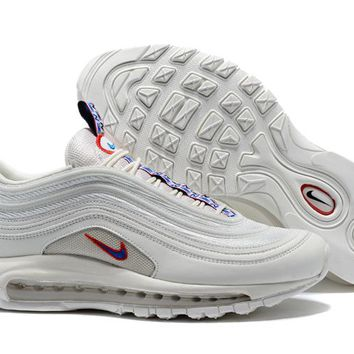 Nike Air Max 97 White/Red Retro Running Shoes