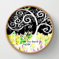 NOW  Wall Clock by RokinRonda
