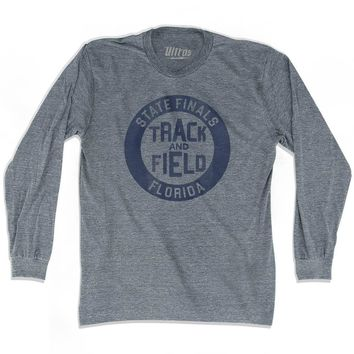 Florida State Finals Track and Field Adult Tri-Blend Long Sleeve T-shirt