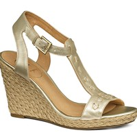 Willa Wedge Natural Cork/ Gold - Jack Rogers USA