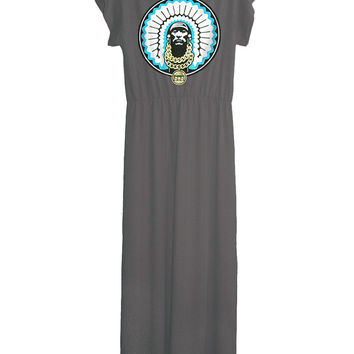 Native American Indian Chief Long Maxi Dress Gown