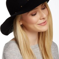 Studded Trim Floppy Hat