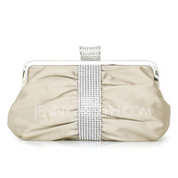 [US$ 16.99] Elegant Silk With Rhinestone Clutches (012027450)